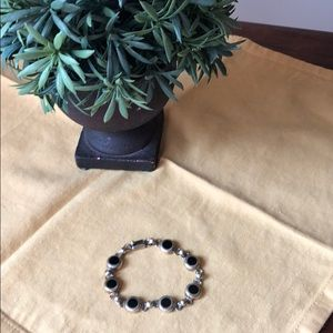 Jewelry - 925 sterling and onyx bracelet